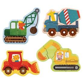 Petitcollage První puzzle stavební stroje
