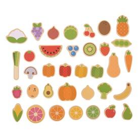 Bigjigs Toys - magnetky ovoce a zelenina