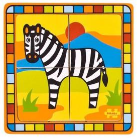 Dřevěné hračky -  Vkládací puzzle zebra