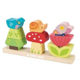 Le Toy Van Petilou - Skládací kostky veselá zahrádka