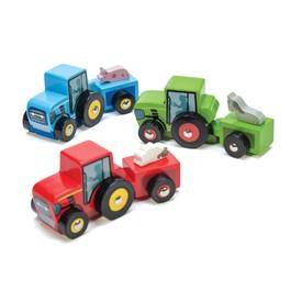 Le Toy Van barevný traktor 1ks modrá