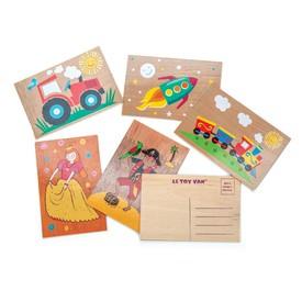 Le Toy Van pohlednice 1ks  traktor