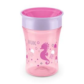 NUK Dětský hrníček Magic 360° růžový 230 ml