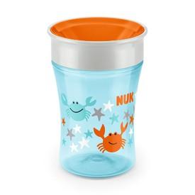 NUK Dětský hrníček Magic 360° modro-oranžový 230 ml