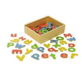 Dřevěné hračky - Školní pomůcky - Magnetická abeceda