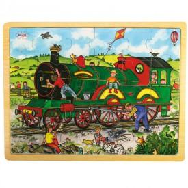 Dřevěné hračky - Puzzle Vlak - 24 dílků