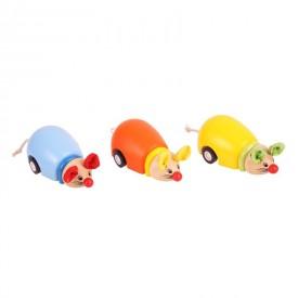 Dřevěné hračky - Dřevěné jezdící myšky