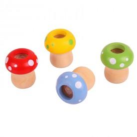 Dětská dřevěná hra - Dřevěný kaleidoskop hříbek