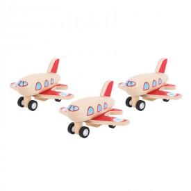 Bigjigs Dřevěné hračky - Dřevěné natahovací letadlo