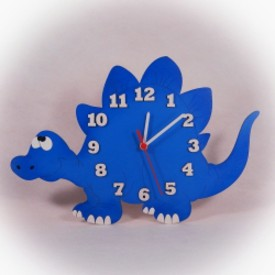 Dřevěné hodiny Stegosaurus
