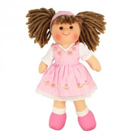 Látková panenka Rose - 25 cm
