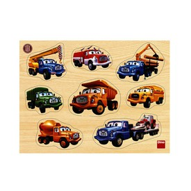 DINO TATRA Dřevěné puzzle vkládačka 8 dílků