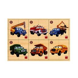 DINO TATRA První dřevěné puzzle 6 x 4 dílky