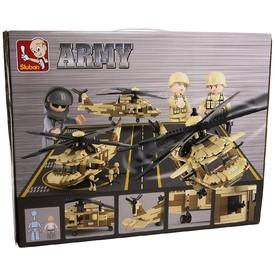 SLUBAN Stavebnice Armádní Vrtulník 439 ks