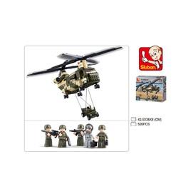 SLUBAN Stavebnice Vojenský vrtulník 620 ks