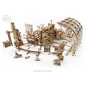 Ugears dřevěná stavebnice 3D mechanické Puzzle - Robotická továrna