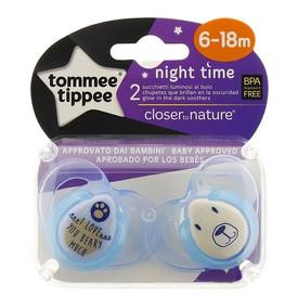 TOMMEE TIPPEE Šidítko C2N Silikon Night 2 ks