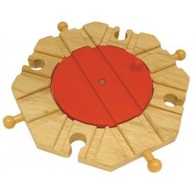 Dřevěné vláčkodráhy Bigjigs - Točna s 8 výjezdy