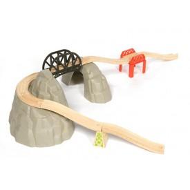 Dřevěné vláčkodráhy Bigjigs - Set vysokohorská dráha