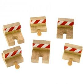 Nárazníky dřevěné vláčkodráhy Bigjigs - 6ks