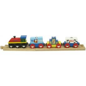 Dřevěná vláčkodráha Bigjigs - Vlak se zbožím