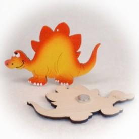 Dřevěné magnetky - Stegosaurus