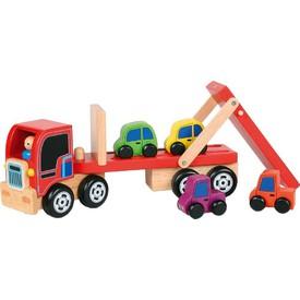 Dřevěný nákladní kamion - Transport aut