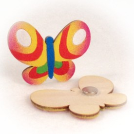 Dřevěné magnetky - Motýl Otakar