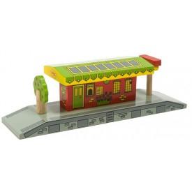 Dřevěné vláčkodráhy Bigjigs - Venkovské nádraží