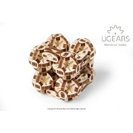 Ugears dřevěná stavebnice 3D mechanické Puzzle - Kostka Flexi