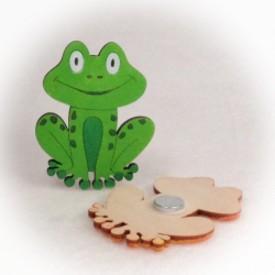 Dřevěné magnetky - Žabka