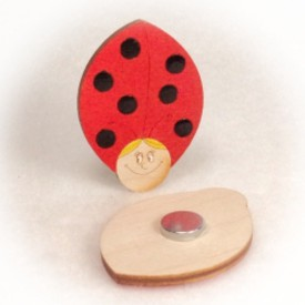 Dřevěné magnetky - Beruška holka