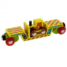 Příslušenství vláčkodráhy - Bigjigs - vagon s buldozerem