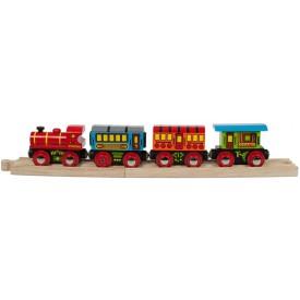Dřevěný vláček vláčkodráhy - Osobní vlak