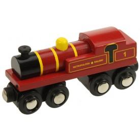 Originální dřevěná lokomotiva vláčkodráhy - Metropolitan
