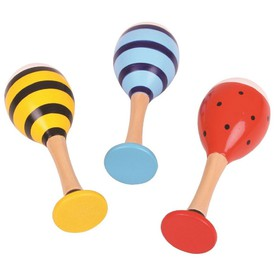 Bigjigs Toys barevné rumbakoule junior zvířáka - 1 pár