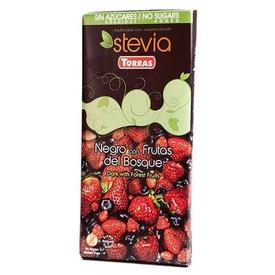 Torras Bezlepková čokoláda STÉVIA s lesním ovocem bez přidaného cukru 125 g