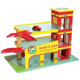Le Toy Van garáž Dino´s Red
