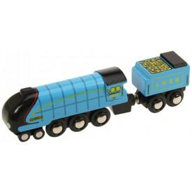 Originální dřevěná lokomotiva - Mallard