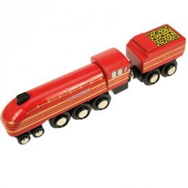 Originální dřevěná lokomotiva - Duchess of Hamilton