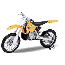 Welly - Motocykl Suzuki RM250 model 1:18 žlutý