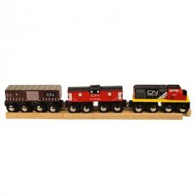 Dřevěná vláčkodráha Bigjigs - CN nákladní vlak