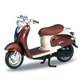 Welly - Motocykl Yamaha Vino YJ50R (1999) model 1:18 vínový