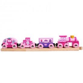 Vláček dřevěné vláčkodráhy Bigjigs - Vlak pro princezny