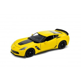 Welly - Chevrolet Corvette Z06 (2017) model 1:24 žlutý