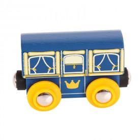 Dřevěná vláčkodráha Bigjigs - Královský vagónek
