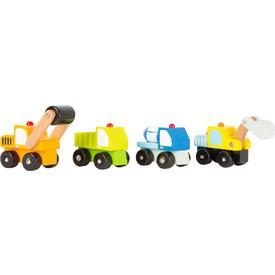 Legler Dřevěná autíčka - Stavební stroje 1 ks