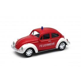 Welly - Volkswagen Beetle model 1:34 červený Feuerwehr