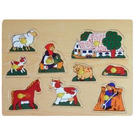 Dřevěné hračky - Vkládací puzzle - Vkládačka - Farma B