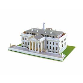 Dřevěné skládačky 3D puzzle - Bílý dům barevný